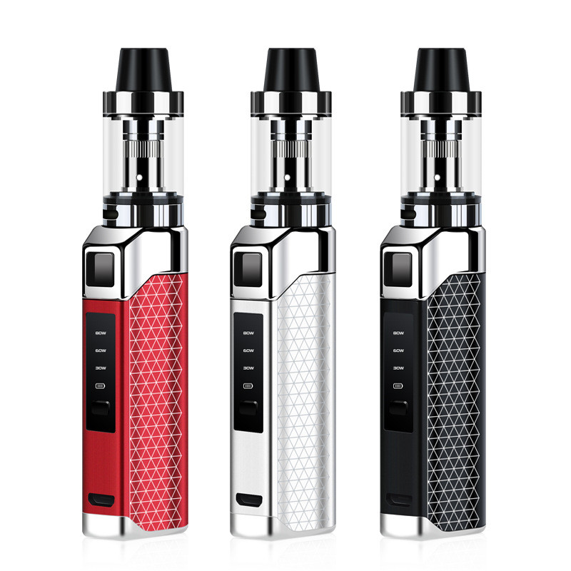 Mini 80w Box Mod 2000mAh Build-in Battery With 1.5ml Wipe Tank Vape Kit Huge Vapor LED Screen E-cigarette Hookah Vaporizer Vaper
