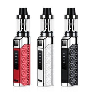 цена на Mini 80w Box Mod 2000mAh build-in battery with 1.5ml wipe tank vape kit Huge Vapor LED screen e-cigarette Hookah vaporizer vaper