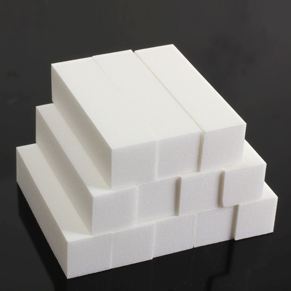Nail Art Buffing Sanding Nail Buffer Block Files Acrylic Pedicure White Buffer Block Manicure 12Pcs