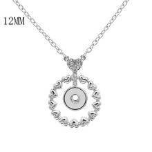 5PCS Ginger Snaps Pendant Necklaces for women with 45CM chain KS1247-S fit 12MM snaps jewelry Mother's Day Gifts недорого