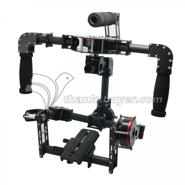 3 Axis Handheld DSLR Carbon Fiber Brushless Gimbal with Motors & 8bit/32bit Controller for 5d GH3 GH4 Camera