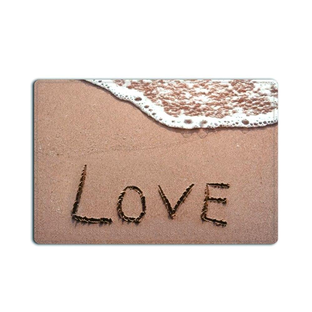Decorazioni Lettere D Amore us $16.14 15% di sconto memoria a casa la lettera di amore spiaggia zerbino  spolverare tappeto tappeto di benvenuto della decorazione di festival
