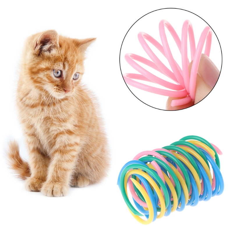 Home & Garden 5 Pcs Accessories Wide Cute Interactive Home Heavy Gauge Spring Toys Practical Colorful Pet Cat Playing Kitten Durable Bright In Colour