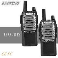 2PCS New 8W BaoFeng UV 8D Walky Talky 10KM Portable CB Radio Mobile Transceiver DTMF VOX 1750Hz Tone FM 2800mAh Professional