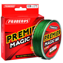 100M 300M PRO BEROS PE Fishing Line 16 Stands 16 Weaves Japan Braided Wire Available 40LB-300LB PE Line Tackle Red Package(China)