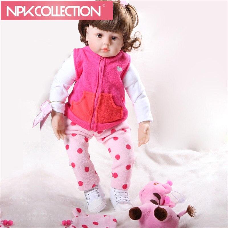 Fashion 19inch 48cm Lifelike Boneca Reborn Dolls Brand Doll Reborn Newborn Toy Baby Doll For Kids Christmas And Birthday Gift