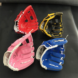 2017 hot sale red pink blue colour children adult left hand high quality pvc baseball glove.jpg 250x250