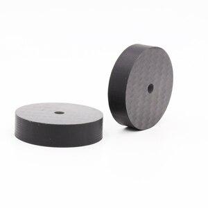 Image 5 - Hi End Black Carbon Fiber Speaker Isolation 40x15mm 25x5mm 30X10mm 50X20mm Base Pad Shoe Feet Hifi audio Amp cone speaker pad