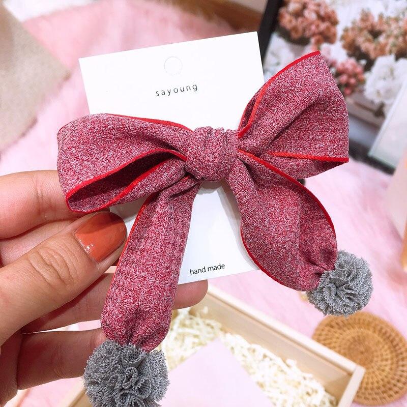 korean fabric hair bows girls