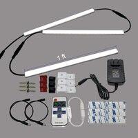 HAMRVL IR remote control Dimmable Under Cabinet Light Kitchen LED bar light 3*0.3m 5050 Hard Rigid Bar 3pcs/set