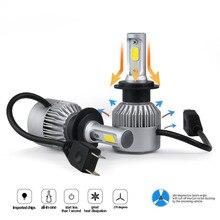 Car Head light S2 6000K H4 H7 H1 COB LED Headlight Bulbs H11 12V 9005 H3 72W 8000LM lamp Fog Light 9006