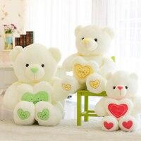 1 adet 60 cm Dolması Peluş Oyuncak Holding AŞK Kalp Büyük Peluş Oyuncak ayı Sevgililer Günü Doğum Günü için 3 renkler Yumuşak Hediye kızın hediye
