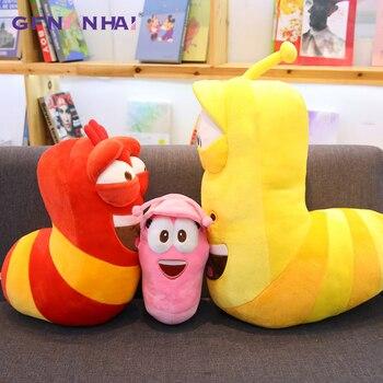 32-45 cm Anime Eğlenceli Böcek Slug Yaratıcı Larva peluş oyuncak dolgu yastık Film ve TV karikatür oyuncaklar Için Çocuk doğum günü noel hediyesi