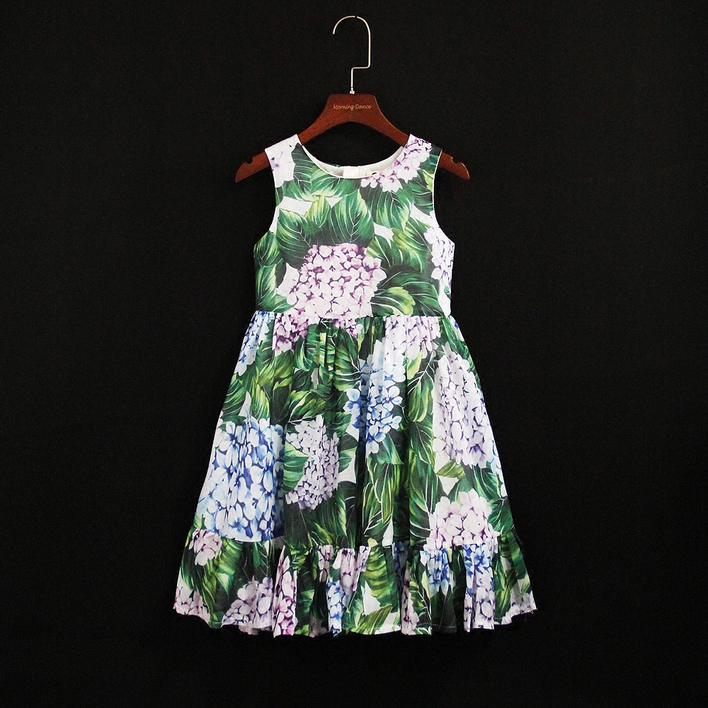Summer brand kids flower girl sleeveless children family look clothes mommy infant girls beach dress mother and daughter dresses brand spring summer pink green sleeveless pleated large size skirts infant sundress daughter mother and girls family look dress