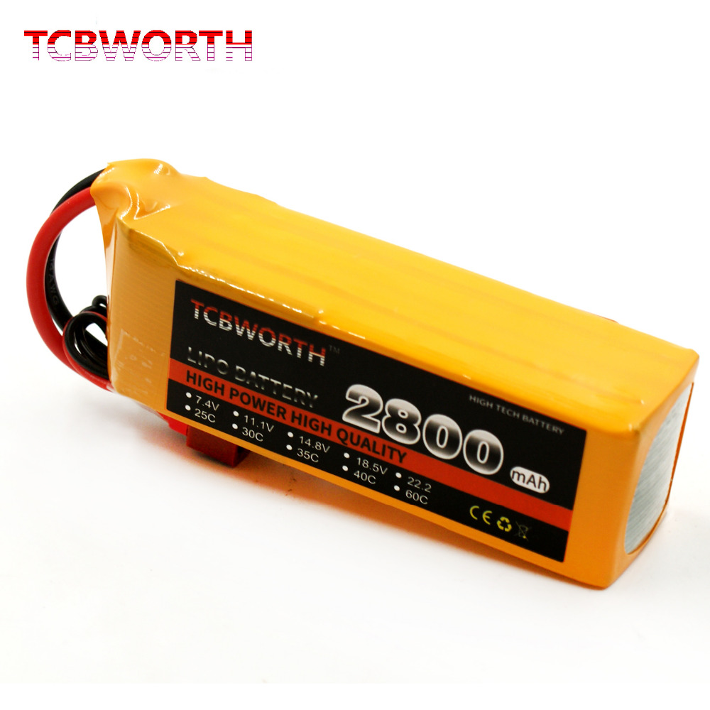 TCBWORTH 14.8V 2800mAh 60C Max 120C 4S RC Drone Lipo Battery For RC Airplane Quadrotor Helicopter Drone Li-ion battery tcbworth 11 1v 3300mah 60c 120c 3s rc lipo battery for rc airplane helicopter quadrotor drone car boat truck li ion battery