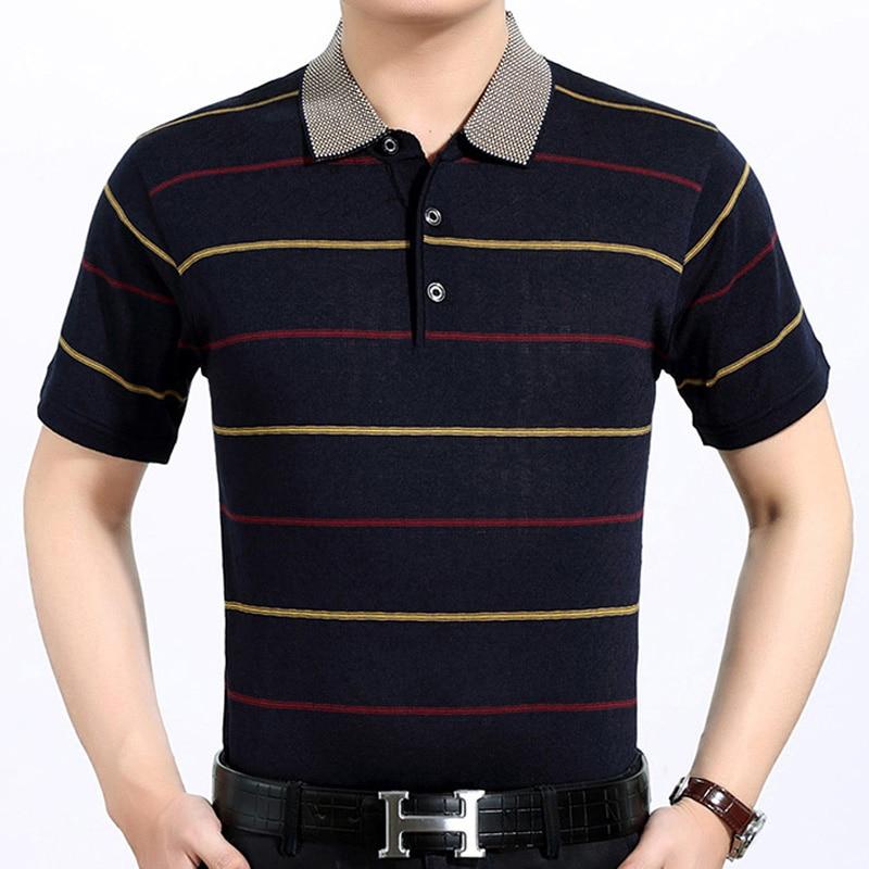 2017 casual short sleeve business mens shirts male striped fashion brand polo shirt designer men tenis polos camisa social 276