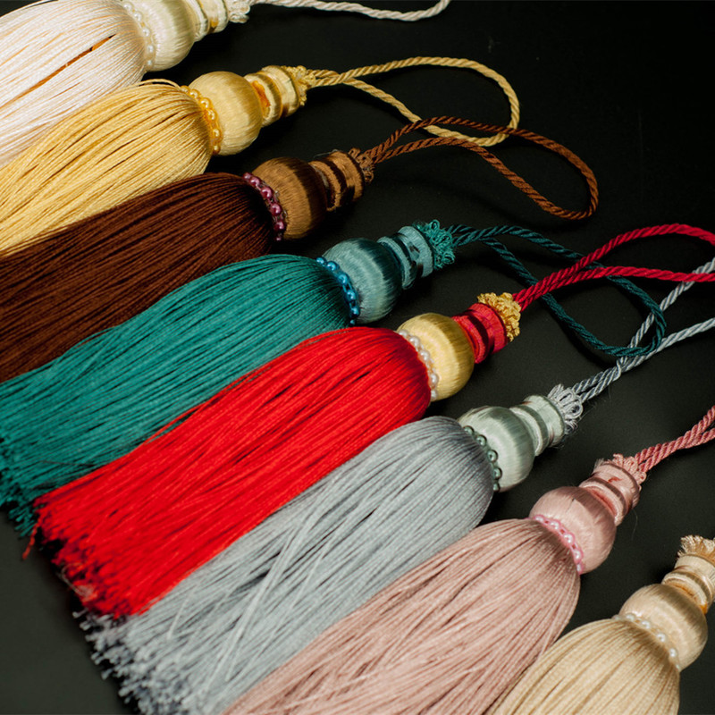 High Quality 16cm Multicolor Cotton Tassels Crafts Jewelry Bag Charm Pendant DIY Tassel Jewelry Making Accessories Findings
