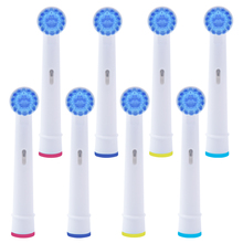 8Pcs Electric replacement toothbrush heads for Oral B electric toothbrush compatible with power/Pro health/Triumph/3D Excel недорого