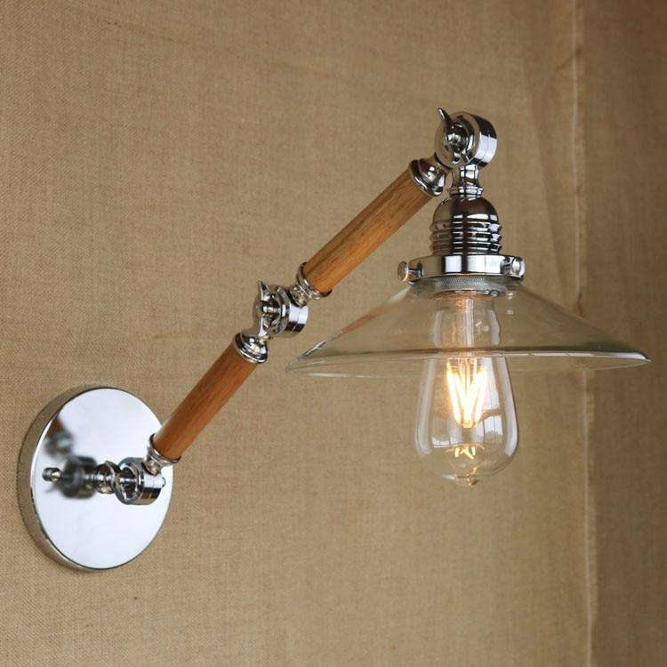 Деревянный Ретро Винтаж бра с Регулируемая длинная рука в Лофт Промышленные Эдисон бра лампе arandela <font><b>aplik</b></font>