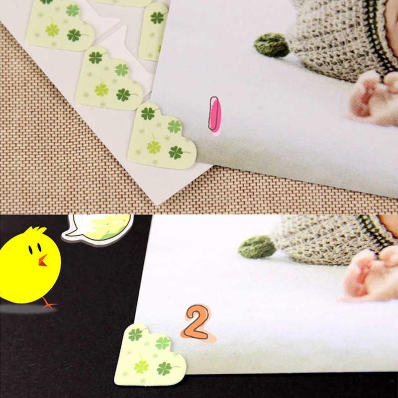 24 Cái/lốc DIY Hình Hoạt Hình Dễ Thương Góc Dễ Thương Giấy Dán Album Ảnh Khung Trang Trí Thêu Sò Sỉ 11 Màu