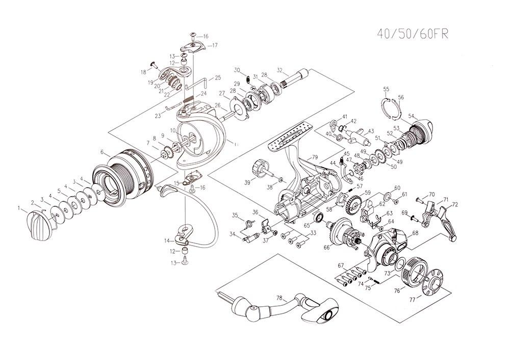 RoseWood 2 Speed 6.31 4.31 Front And Real Dual Braking Spinning Reel 12+1 S.S Bearings Carp Fishing Reels + Spare Spool  (12)