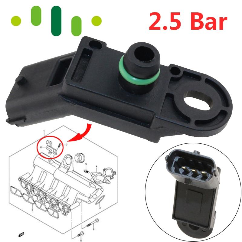 2.5 Bar Meningkatkan Sensor Tekanan Untuk RENAULT ESPACE III IV LAGUNA II Grandtour 1.9 2.2 dCi 223653795R 8200155613
