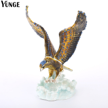 YUNGE Vintage Retro Metal Tin Jewelry Gift Box feng shui decorating Hand Made Vintage Eagle Souvenir Figurine Metal Crafts