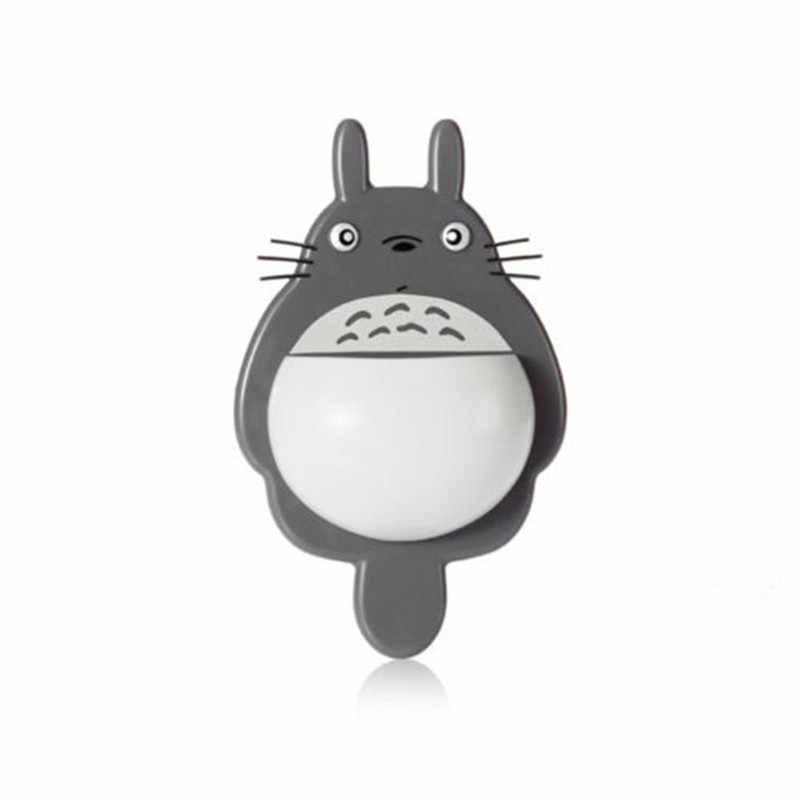 1 Uds. Soporte de montaje en pared de cepillo de dientes bonito Totoro Sucker succión organizador de baño herramientas familiares accesorios envío directo