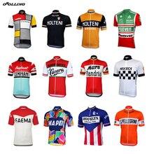 Multi classica nuova maglia da ciclismo retrò Team Pro personalizzata Road Mountain Race Top OROLLING