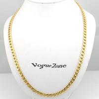 Classic 55cm Women Men 18K Gold GP Filled Figaro Gold Chain 22 Inches 6mm 29g Thin