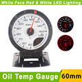 Oil Temp Gauge 60mm Car D*fi CR Advance Oil Temperature Gauge With Sensor White Face Auto Gauge Car Meter/Red White LED Light