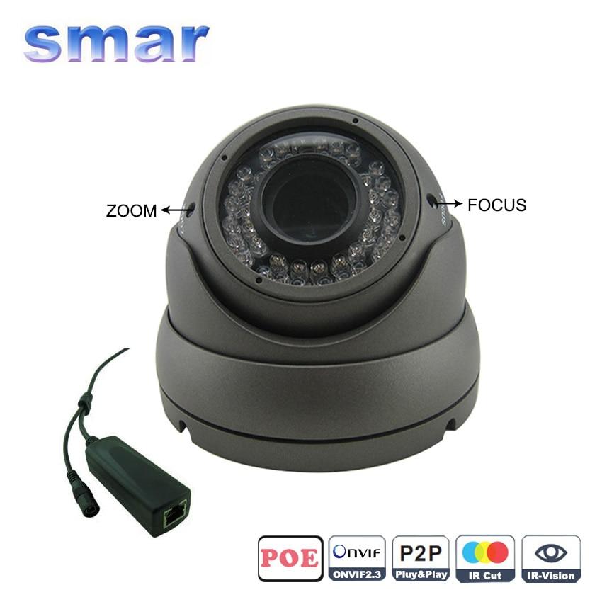 HD 720P 960P 1080P Vandal proof Dome POE IP font b Camera b font Built in