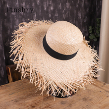Летняя Солнцезащитная шляпа с широкими полями для женщин, пляжная, праздничная соломенная шляпа из рафии с бахромой, модные женские пляжные шляпы Gorra Hombre