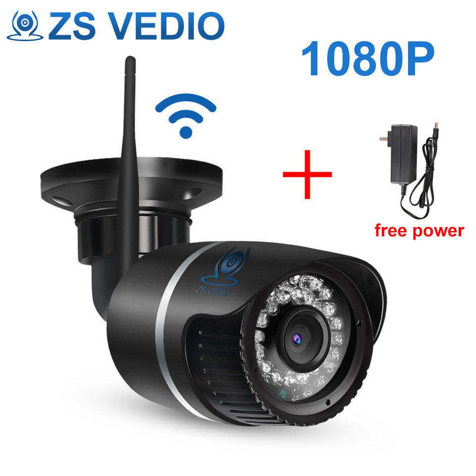 ZSVEDIO Surveillance Cameras IP Camera OnVif IP Cameras Wi Fi IP66 Outside Wireless 1080P HD 2MP