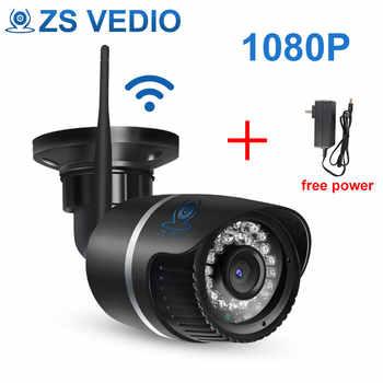 ZSVEDIO Surveillance Cameras IP Camera OnVif IP Cameras Wi Fi IP66 Outside Wireless 1080P HD 2MP Black 2.8mm Camera CCTV - SALE ITEM Security & Protection