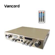 Conception originale Amplificateur Portable 12 V HiFi Audio Haut-Parleur de Son Amplificateur de Soutien FM SD USB Entrée Avec Télécommande AMP AV-908
