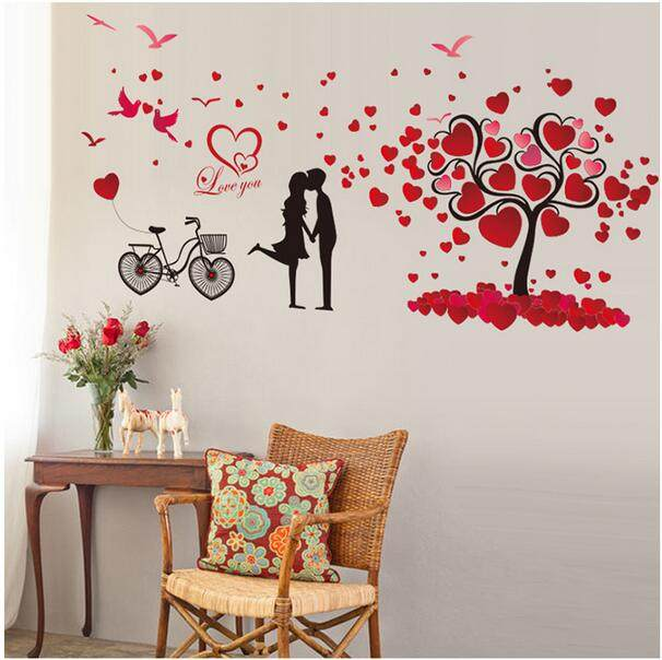 Online Shop Marriage room wall stickers room wall decor Valentine ...