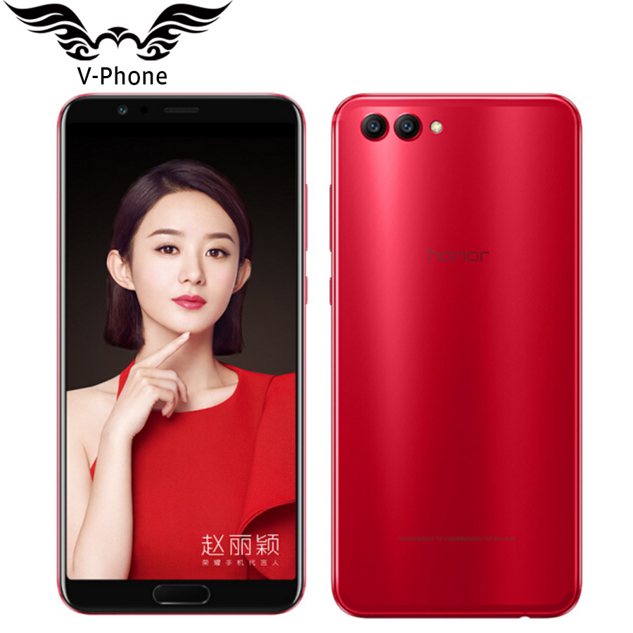 Original Huawei Honor V10 4G LTE Mobile Phone 5.99 inch Kirin 970 Octa Core 6GB RAM 128GB ROM 1080*2160P Android 8.0 SmartPhone