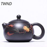 200CC Ore purple clay peach teapot yixing kettle with gift box suit tie guan yin black tea