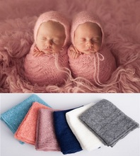 купить wrap baby  mohair  newborn photography props accessories  baby wrap blanket props newborn photo по цене 326.02 рублей