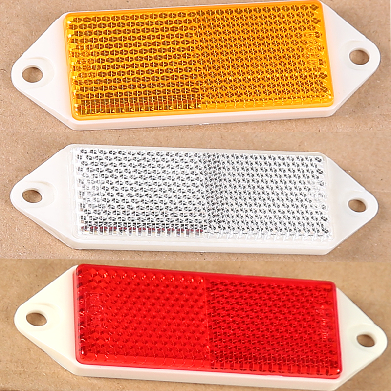 Image 5 - 6 pcs  AOHEWE amber  rectangular reflector  with screw ECE Approval reflect strip for trailer truck lorry bus RV caravan bike-in Reflective Strips from Automobiles & Motorcycles