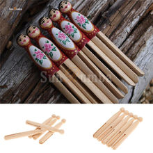 10pcs Wooden Unfinished DIY Craft Peg Dolls Wood Toy Arts Sewing Crafts Doll Puppet Bases Cute Home Decor