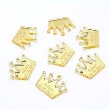 50* Индивидуальные Золотая Корона Baby Shower украшение стола принц украшения для стола на день рождения пользу центральные Декор подарок для детей конфетти