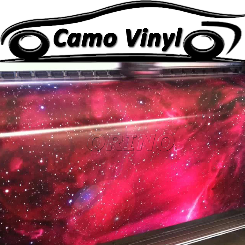 Car Styling Galaxy Sticker Bomb Wrap Vinyl Sticker Bombing Sky Stars Galaxy Film Wrapping Air Release Bubble Free
