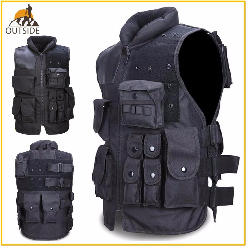 High Quality Tactical Vest Black Mens Military Hunting Vest Field Battle Airsoft Molle Waistcoat Combat Assault Plate Carrier tactical vest 10 colors hunting vest military adjustable combat assault plate carrier amphibious battle airsoft molle waistcoat