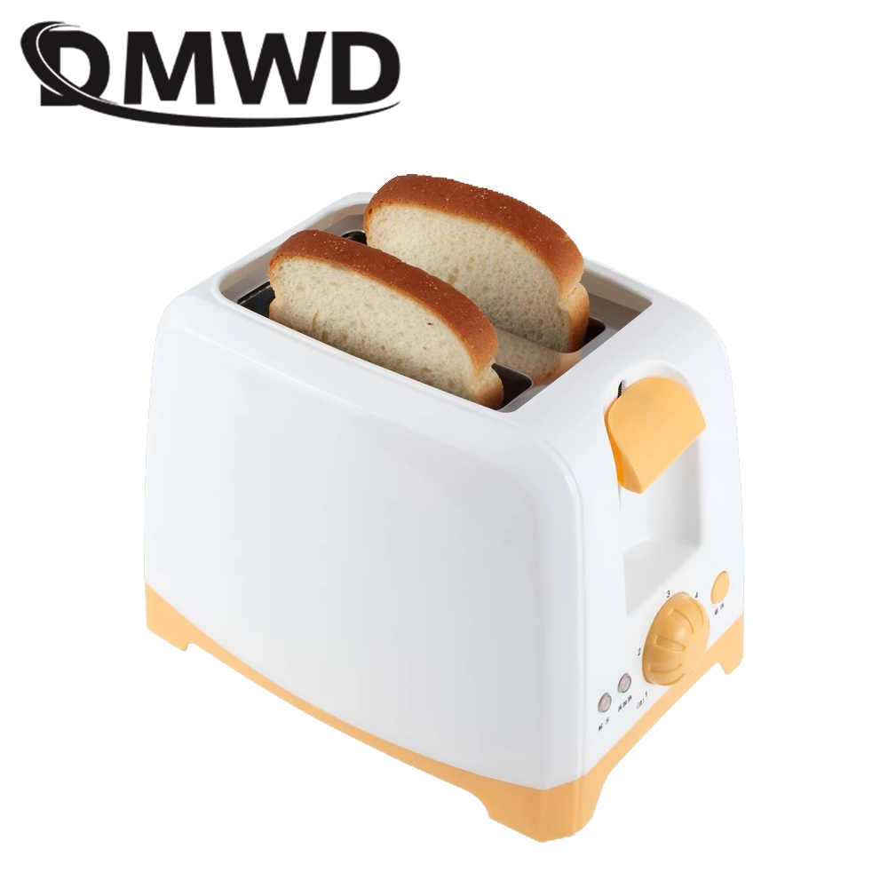 DMWD Automatic Bread Toaster Baking Toast Oven Cooker Electric Breakfast Machine 2 Slices Slot Multifunction Bread Maker EU Plug Тостер