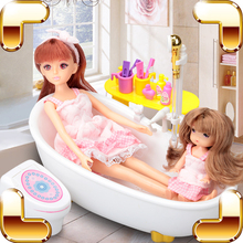 New Arrival Gift Baby Toys Doll Houses Shower Pretend Game Toys For Girls Water Bathtub Toys Bath Simulaton Electric Educational