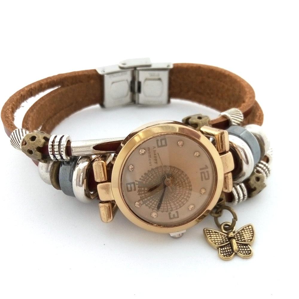 Las nuevas mujeres de la manera relojes hechos a mano completos del - Relojes para mujeres