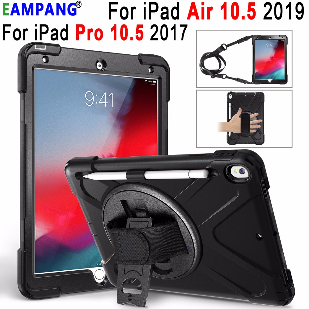 Premium Armor Shockproof Hand Shoulder Strap Case For Apple Ipad Pro 10 5 Ipad Air 10 5 2019 Cover Funda With Pencil Holder Tablets E Books Case Aliexpress