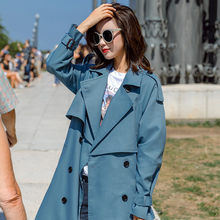 Fashion Windbreaker Coats 2019 New Spring Autumn Long Coat Women Trench Coats Korean Loose With Belt Ladies Outerwear R317(China)